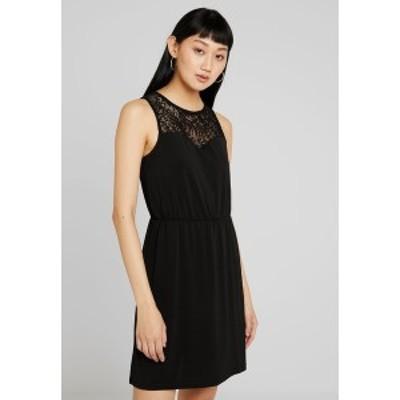 ヴェロモーダ レディース ワンピース トップス VMMILLA SHORT DRESS - Jersey dress - black black