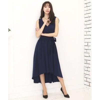 ドレス 【flexin/フレキシン】 フィッシュテール カシュクール ロングドレス サッシュベルト付