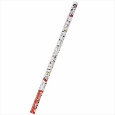 スヌーピー 鉛筆 パール丸軸えんぴつB 5007046 ピーナッツ キャラクターグッズ通販 メール便可