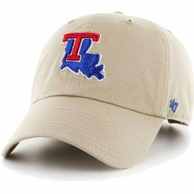 フォーティセブン 47 メンズ キャップ 帽子 Louisiana Tech Bulldogs Khaki Clean Up Adjustable Hat