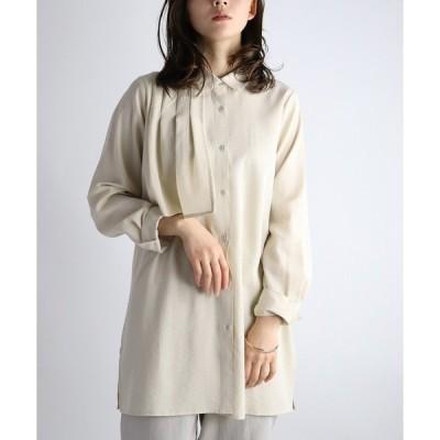 シャツ ブラウス WEB限定 レイヤードチュニックシャツ