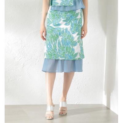 【ラブレス/LOVELESS】 【LOVELESS】WOMEN Creative line リーフジャカードスカート