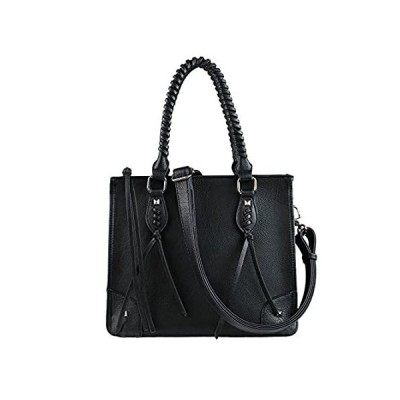 Concealed Carry Weapon Purse - YKK Locking Amy Studded Satchel by Lady Conc