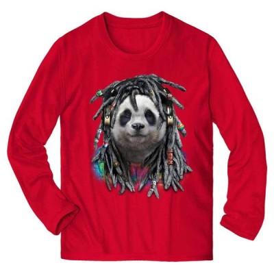 【ヒップホップ レゲエパンダ】メンズ 長袖 Tシャツ by Fox Republic