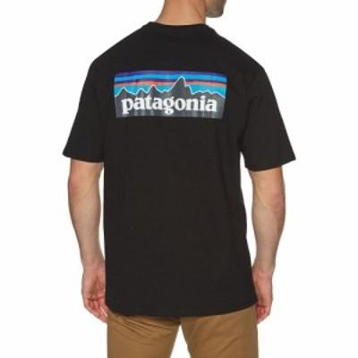 パタゴニア Patagonia メンズ Tシャツ トップス p6 logo responsibilitee short sleeve t-shirt Black