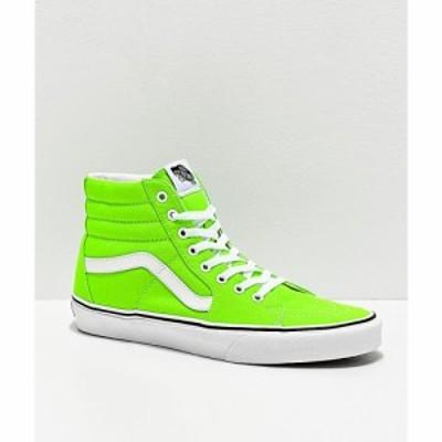 ヴァンズ VANS レディース スケートボード シューズ・靴 sk8-hi neon gecko green and white skate shoes Green