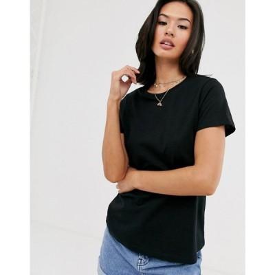 エイソス ASOS DESIGN レディース Tシャツ トップス ultimate organic cotton t-shirt with crew neck in black Black