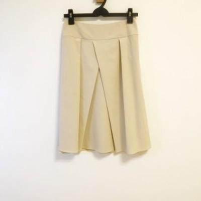 フォクシーニューヨーク FOXEY NEW YORK スカート サイズ40 M レディース - ベージュ ひざ丈【中古】20210310