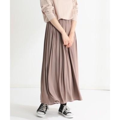 スカート ギャザーロングスカート
