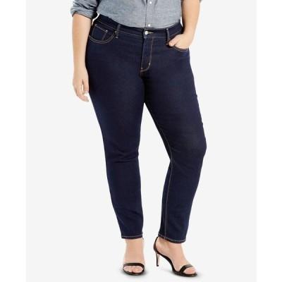 リーバイス デニムパンツ ボトムス レディース Plus Size 311 Shaping Skinny Jeans Darkest Sky - Waterless