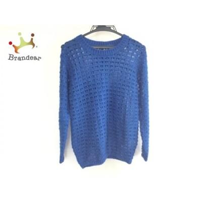 ムルーア MURUA 長袖セーター サイズF レディース ブルー   スペシャル特価 20200930