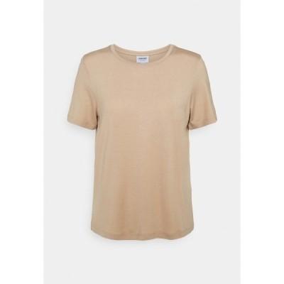 ヴェロモーダ Tシャツ レディース トップス VMAVA - Basic T-shirt - beige