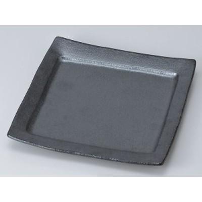 銀黒回角中皿