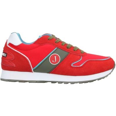 ジェッカーソン JECKERSON スニーカー&テニスシューズ(ローカット) レッド 41 革 / 紡績繊維 スニーカー&テニスシューズ(ローカット)