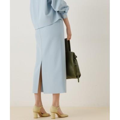 ADAM ET ROPE' / 【セットアップ対応】ニットジョーゼットボンディングスカート WOMEN スカート > スカート