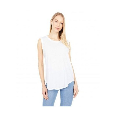 Mod-o-doc モッドオードック レディース 女性用 ファッション トップス シャツ Burnout Wash Jersey Muscle Tank - White