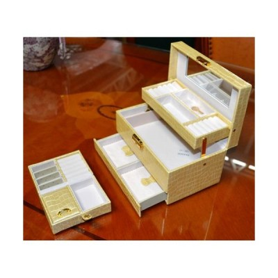 輸入インテリア:ジュエリーボックス:クロコクリーム オープン記念 プレゼント お姫様