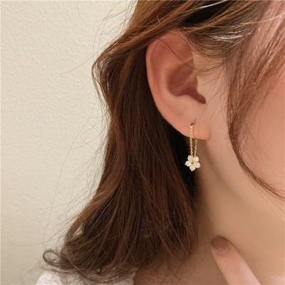 ピアス シルバー Silver S925 花 フラワー 揺れる レディース 可愛い おしゃれ アクセサリー ギフト シンプル プレゼント 韓国 ファッション
