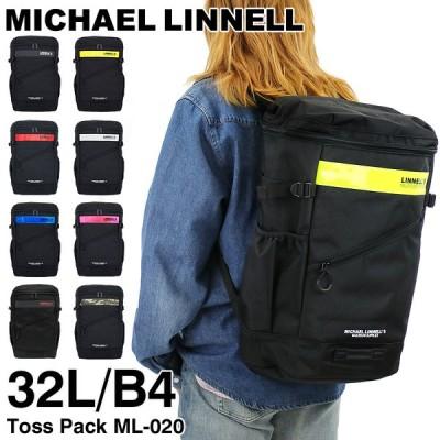 MICHAEL LINNELL(マイケルリンネル) スクエアリュック デイパック バックパック リュックサック 32L B4 正規品 メンズ レディース ジュニア ML-020 送料無料