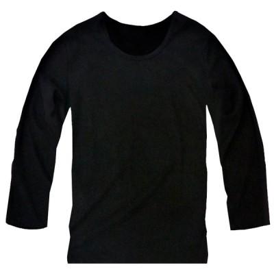 暖かい フリース 新作 長袖 メンズ フリースシャツ フリースニット セーター uネック 無地 カットソー ブラック 黒 f810 おしゃれ 男性用
