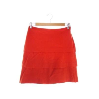 【中古】プロポーション ボディドレッシング PROPORTION BODY DRESSING スカート タイト ミニ ティアード ウール 3 オレンジ レディース 【ベクトル 古着】