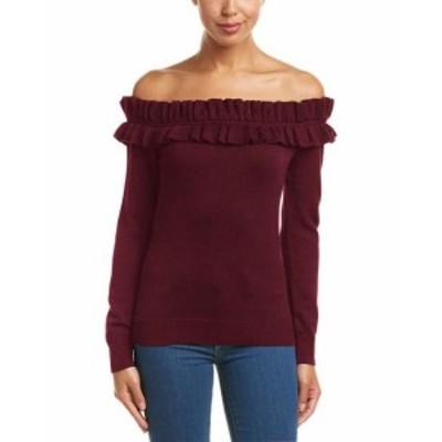 ファッション トップス Duffy Off-The-Shoulder Wool-Blend Sweater M
