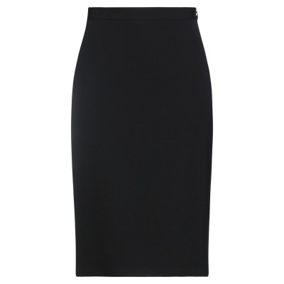 BURBERRY ひざ丈スカート ブラック 4 ウール 100% ひざ丈スカート