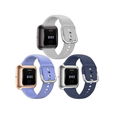 特別価格QIBOX Sport Bands Compatible with Fitbit Versa 2/ Versa Lite, Soft Silicone並行輸入品