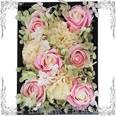 amife petit ソープフラワー レッド 母の日 花束 ギフトボックス 誕生日 記念日 日本製 プレゼント 約20**14*バレン