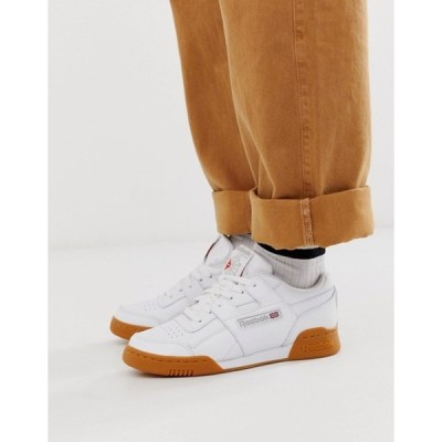 リーボック レディース スニーカー シューズ Reebok Classic Workout sneakers with gum sole