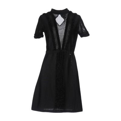 ジャストカヴァリ JUST CAVALLI ミニワンピース&ドレス ブラック M ウール 40% / ナイロン 36% / コットン 24% ミニワ