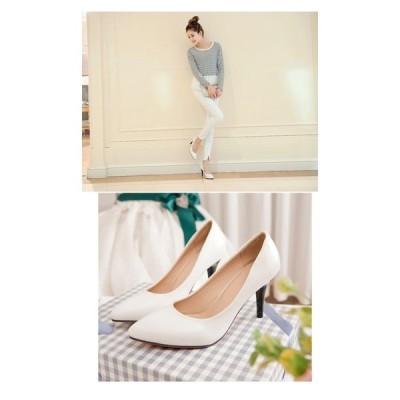 パンプス靴ピンヒールエナメル靴フォーマルベーシック美脚大きサイズ通勤パンプス春夏楽ちん柔らかいとんがり