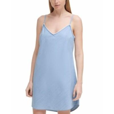 カルバンクライン レディース ワンピース トップス Garment Dye Tank Dress Chambray B