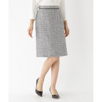 【インディヴィ】 ツイードAラインスカート レディース ブラック 36(S) INDIVI