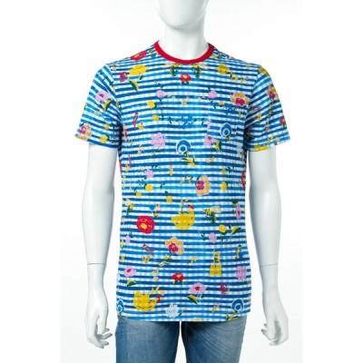 ダニエレアレッサンドリーニ DANIELEALESSANDRINI Tシャツ 半袖 丸首 MAGLIA TROPICALE MC ST メンズ M6200E647S13700 ブルー 目玉商品