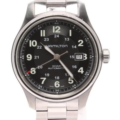 ハミルトン 腕時計 H705250 カーキフィールド 自動巻き ブラック メンズ  HAMILTON 中古
