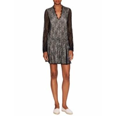 アリス+オリビア レディース ワンピース Deena Drop Waist V-Neck Blouson Dress