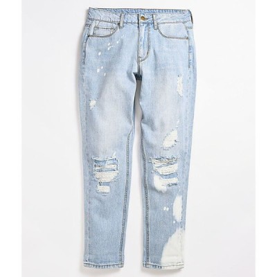 エンパイア EMPYRE レディース ジーンズ・デニム ボトムス・パンツ easton paint splatter light vintage wash denim jeans Blue