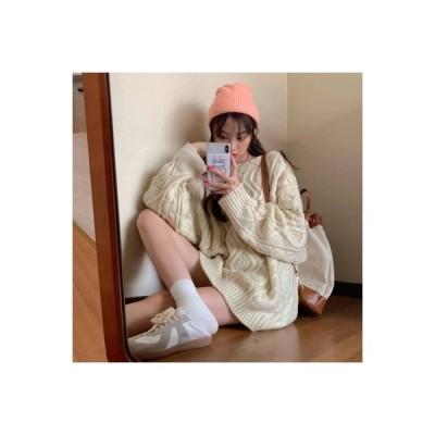 【送料無料】~ 秋冬 韓国風 ルース 着やせ ツイスト ヘッジ 長袖のセーター 女 | 346770_A64044-6010083