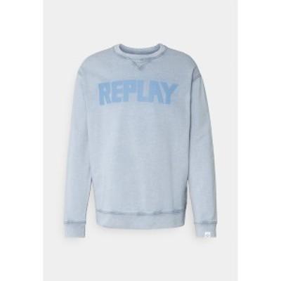 リプレイ メンズ パーカー・スウェットシャツ アウター Sweatshirt - light blue light blue