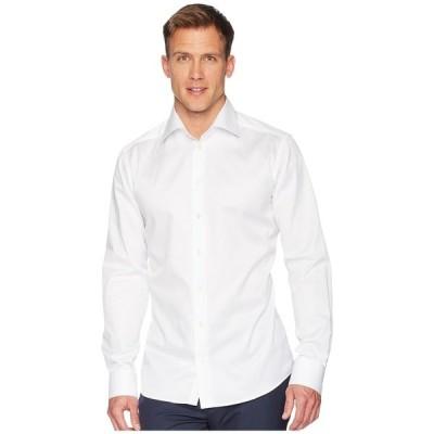エトン シャツ トップス メンズ Slim Fit Twill Shirt White