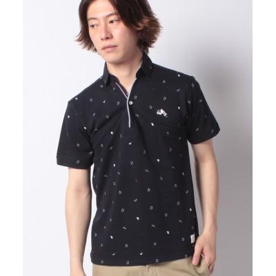 (JEANS MATE/ジーンズメイト)【BLUESTANDARD】デザインポロシャツ/メンズ ネイビーB
