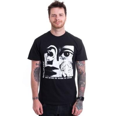 インペリコン Impericon メンズ Tシャツ トップス - Hear Nothing See Nothing - T-Shirt black
