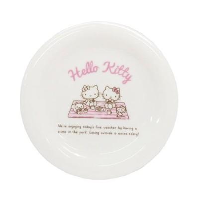 ハローキティ ホリディ プレート 中皿 ピクニック サンリオ sanrio 金正陶器 17×17×1.9cm 食器