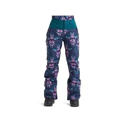 特別価格Burton Women's Gore-Tex Duffy Snow Pant, Dress Blue Stylus/Deep Teal, Small好評販売中
