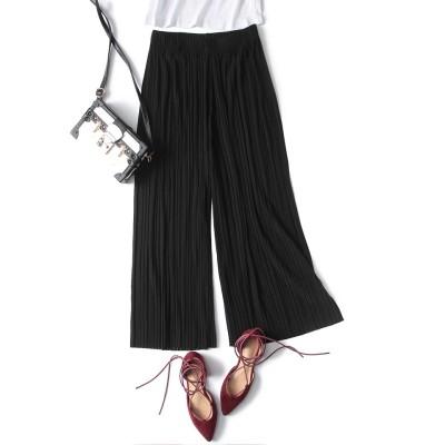 【フリーサイズ】 ガウチョパンツ プリーツスカート シフォン スカート パンツ 韓国ファッション スタイル