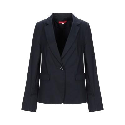 CRISTINA ROCCA テーラードジャケット ダークブルー 46 コットン 97% / ポリウレタン 3% テーラードジャケット