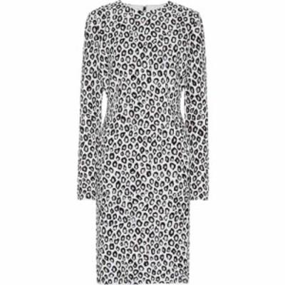 ジバンシー Givenchy レディース ワンピース ミドル丈 ワンピース・ドレス Jacquard midi dress Black/White