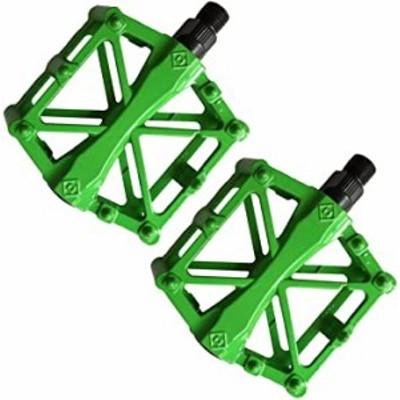 ライトグリーン こもれび屋 ペダル 自転車 バイク アルミ合金ペダル マウンテンバイク ロードバイク用 2個セット 滑り止め 軽量 耐久性 O