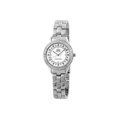 ジュエリー 腕時計 海外セレクション Q&Q BY CITIZEN レディース 腕時計 ホワイト シルバー STRASS METAL リスト バンド QF245-207Y